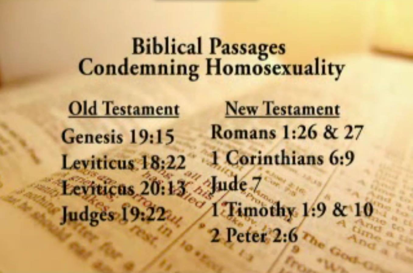 Scriptures about homosexuality being an abomination